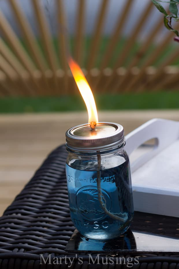 Mason jar citronella candle