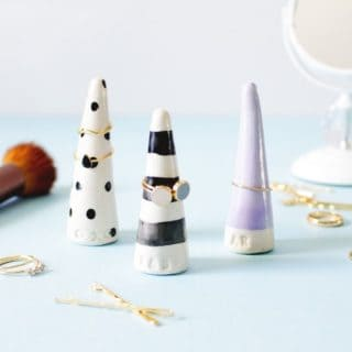 DIY Ring Cones for a Chic Ring Display