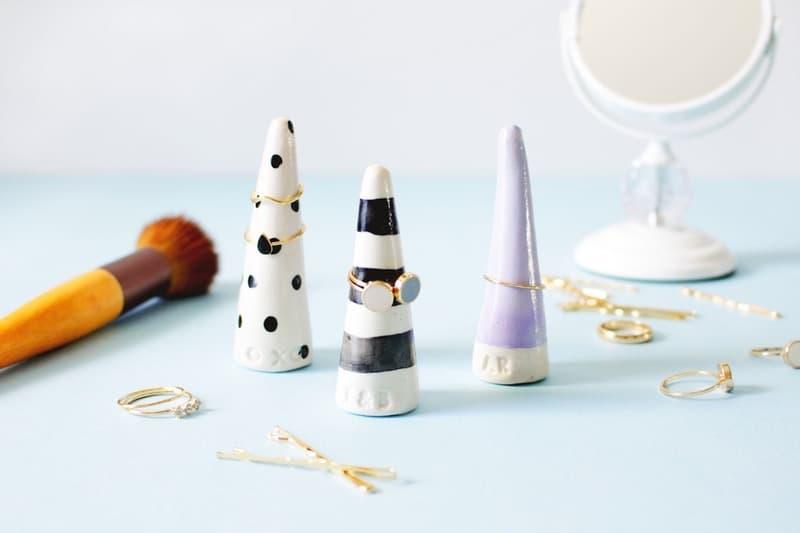 Monogrammed ring cones