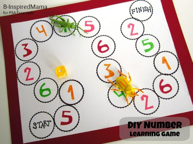 Number learning board game