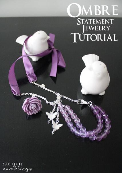 Ombre enamel statement necklace