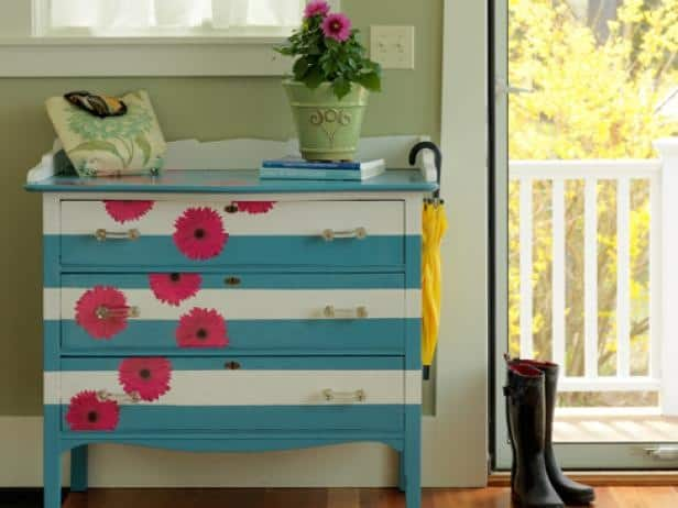 Paint and decoupage dresser
