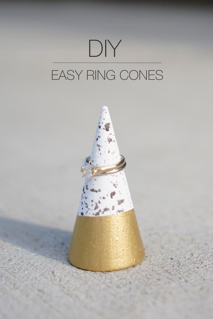 Paint splattered ring cones