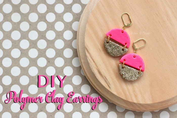 Pink and gold hinge earrings