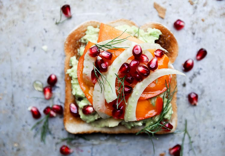 Pomegranate toast