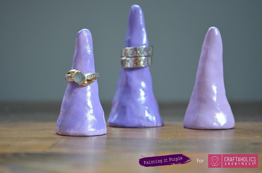 Purple clay ring cones