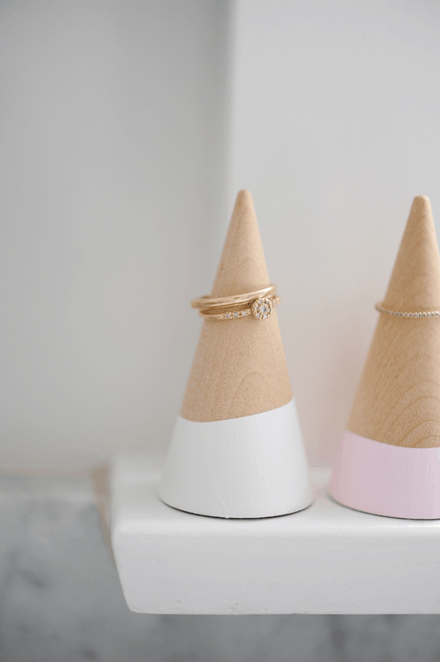 Simple wooden ring cones