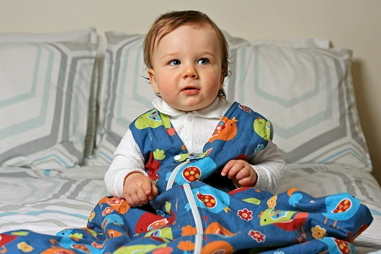 Spacious toddler sleeping bag