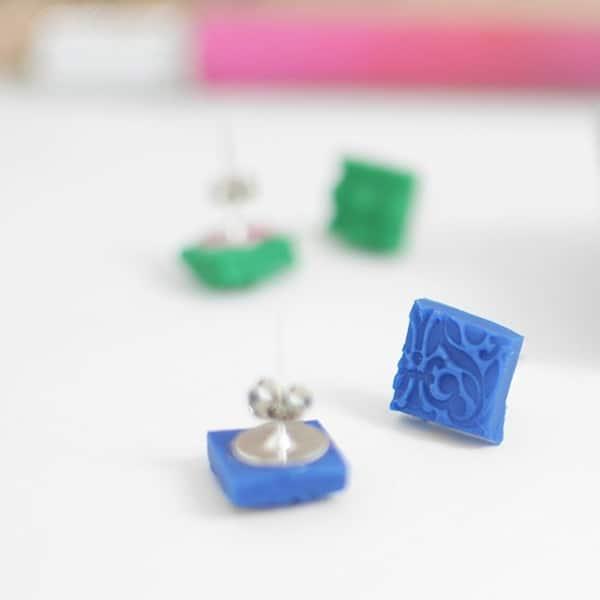 Textured imprint earrings
