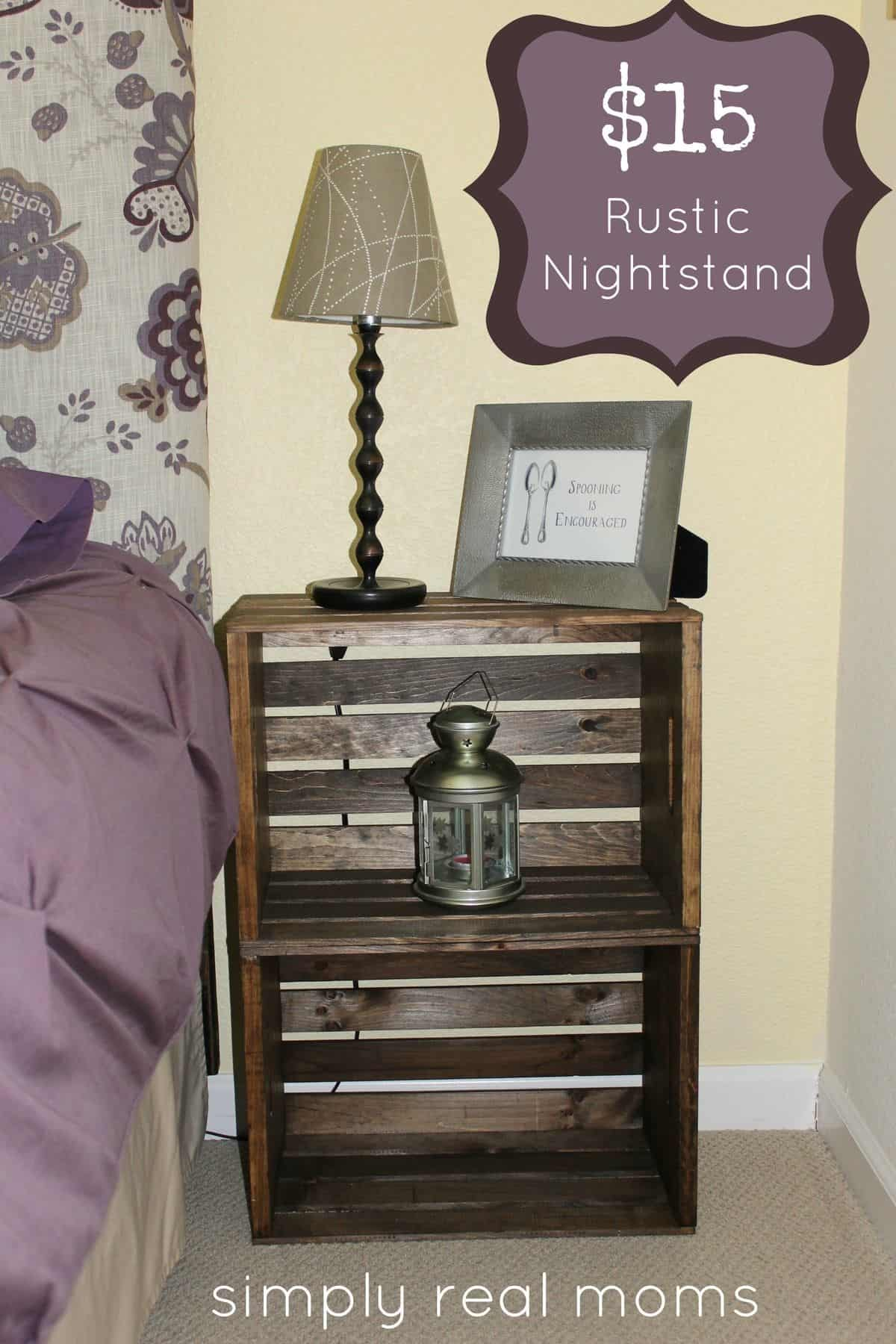 Affordable rustic night stand