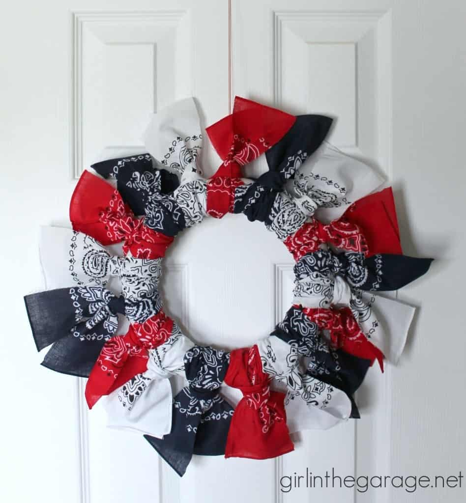 Bandana door wreath