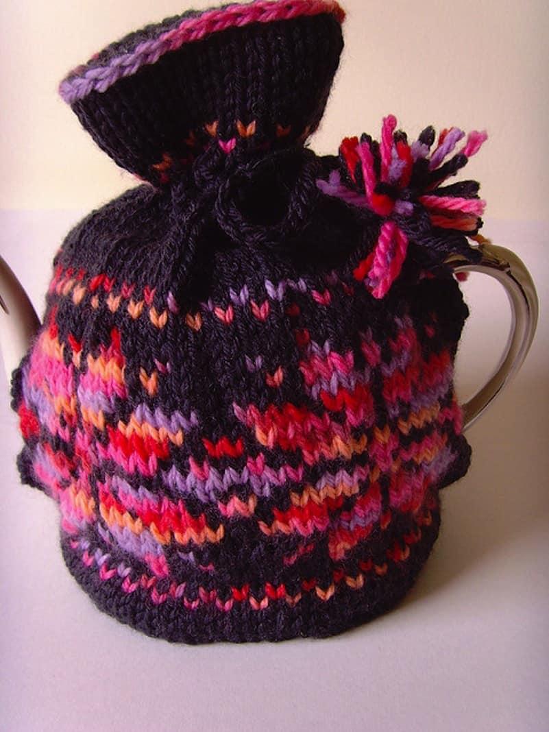 Blackberry tea cozy