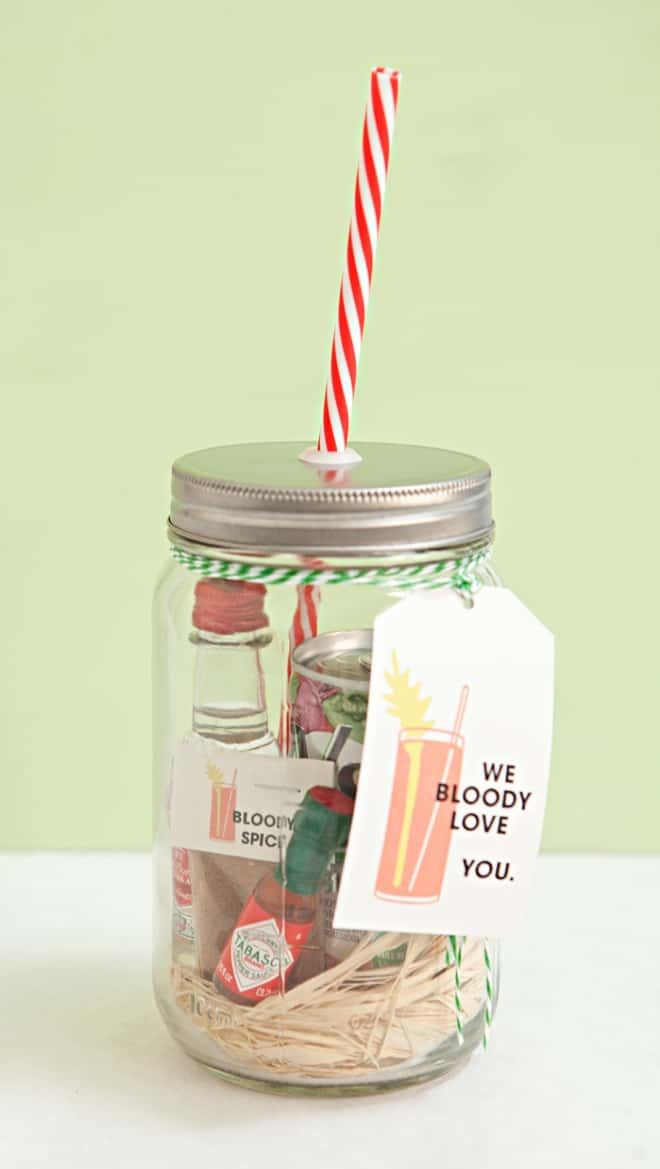 Bloody Mary mason jar