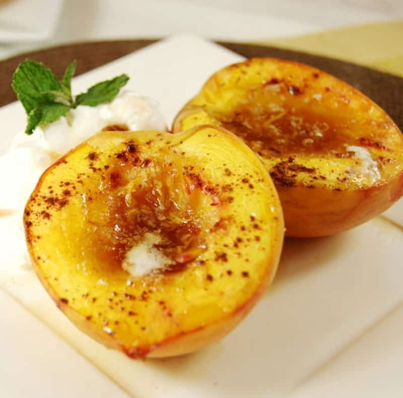 Brown sugar based peaches