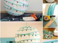 Bunting wrapped paper lantern 200x150 Touch of Oriental Inspiration: 15 DIY Paper Lanterns that Delight!