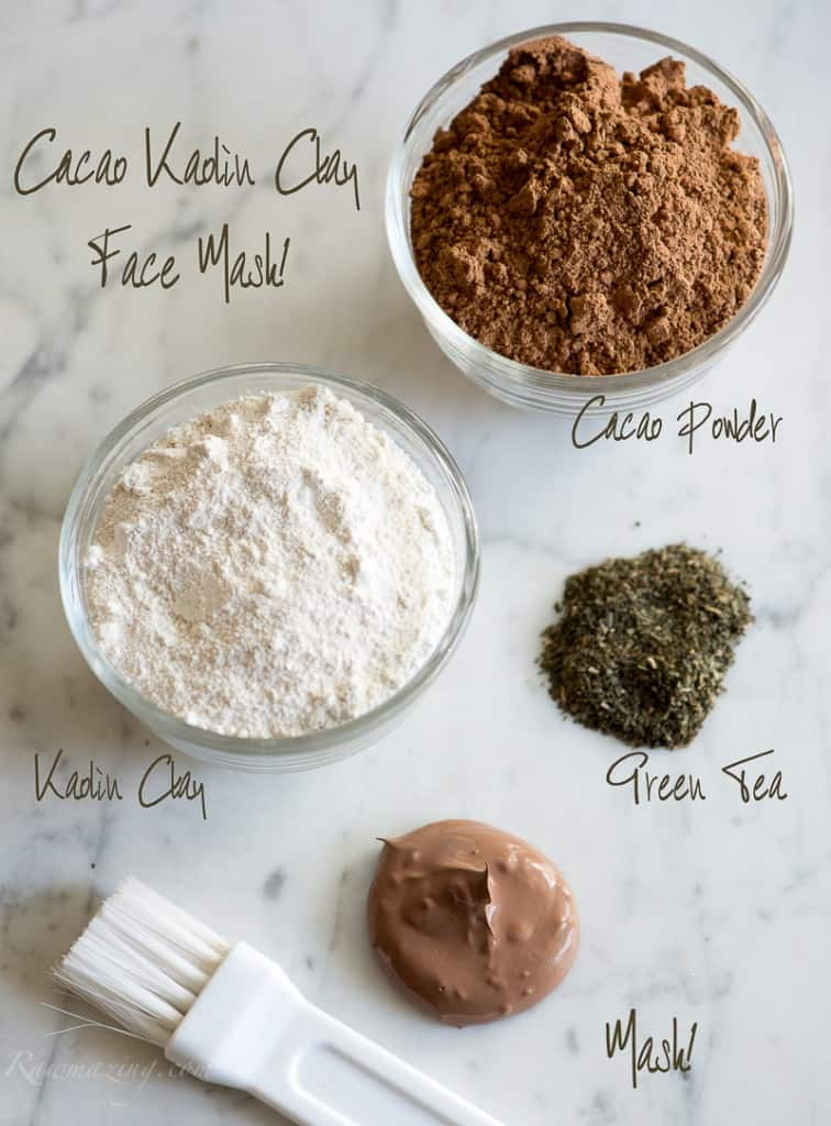 Cacao face mask