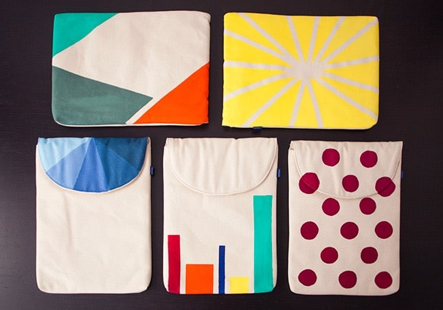 Canvas laptop sleeves