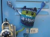 Carl the Locker Monster 200x150 12 Unconventional Knitting Patterns that Venture Beyond the Mundane