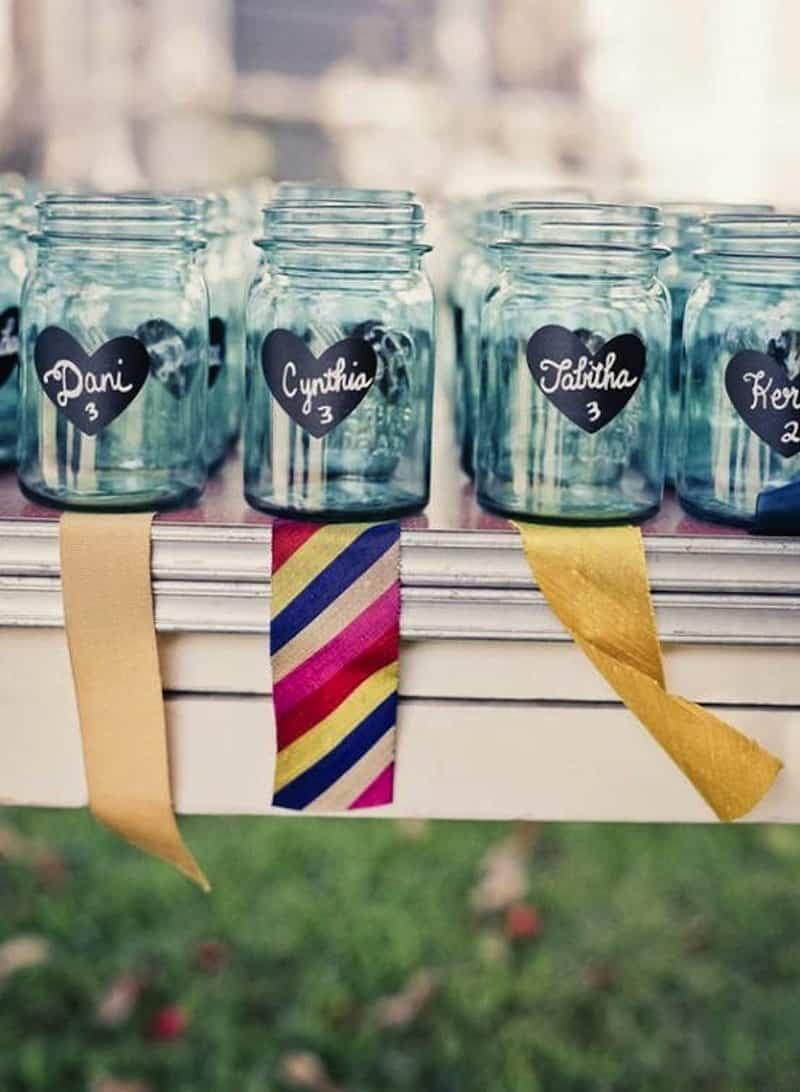Chalboard drinking jars