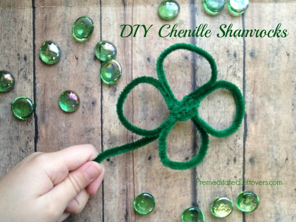 Chenille shamrocks