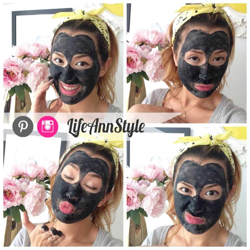 Clay & charcoal face mask