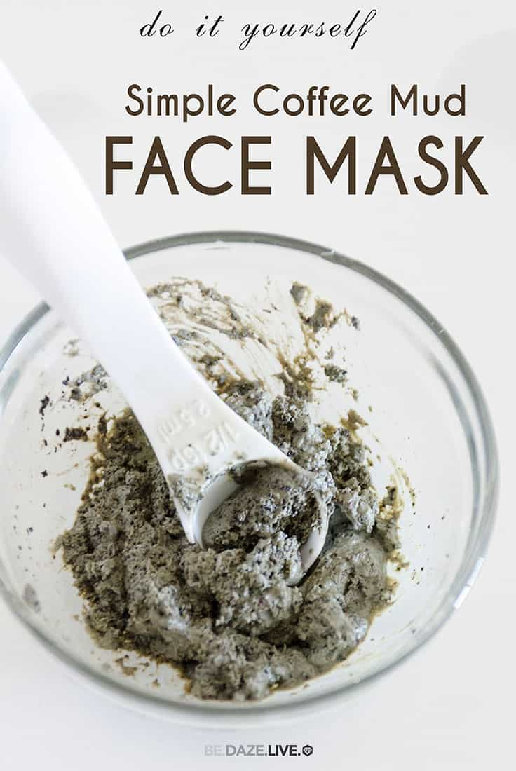 Coffe mud face mask