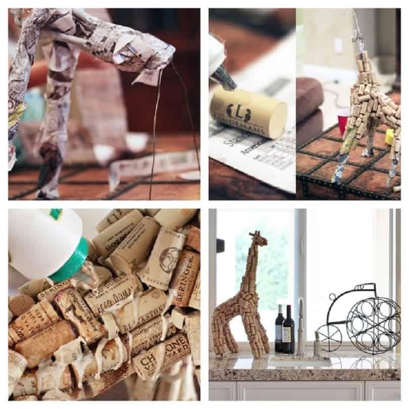 Cork animal sculptures