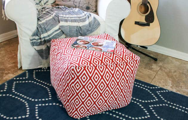 Simply comfy diy ottomans that are a living room must have cushy red ottoman solutioingenieria Images