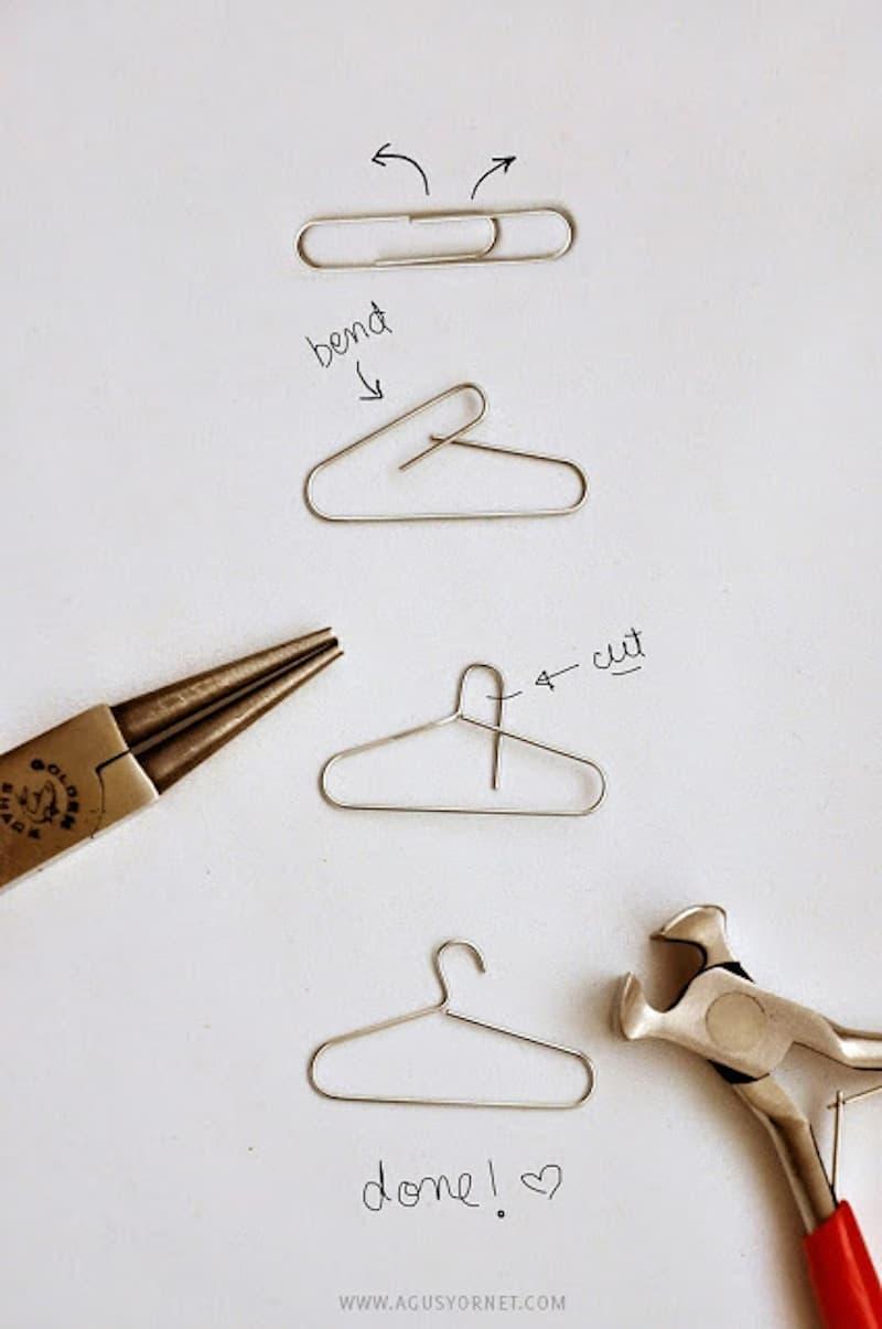 DIY paper clip hangers