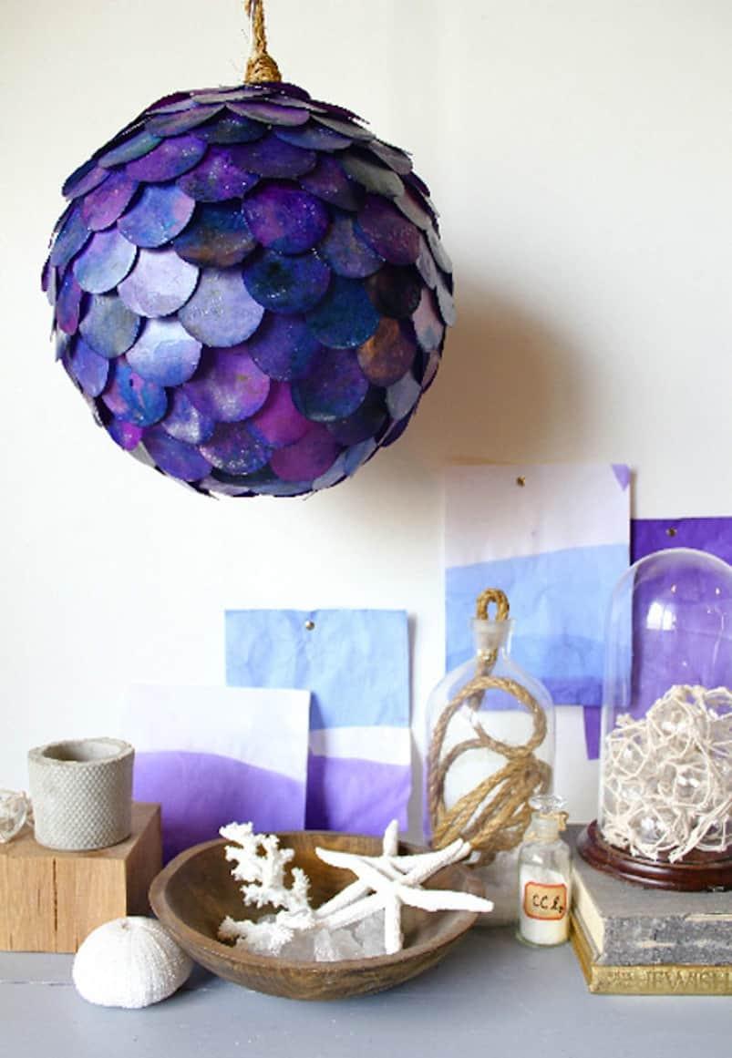 Fish scale pendant lantern