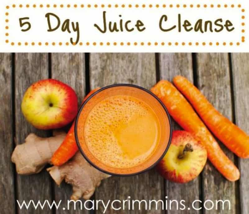 Five-day carrot, apple, and ginger cleanse