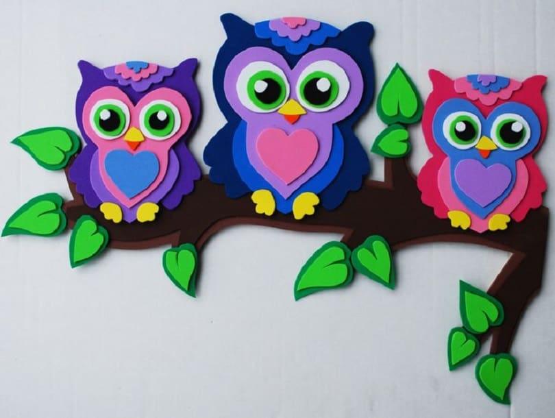 Foam owl family