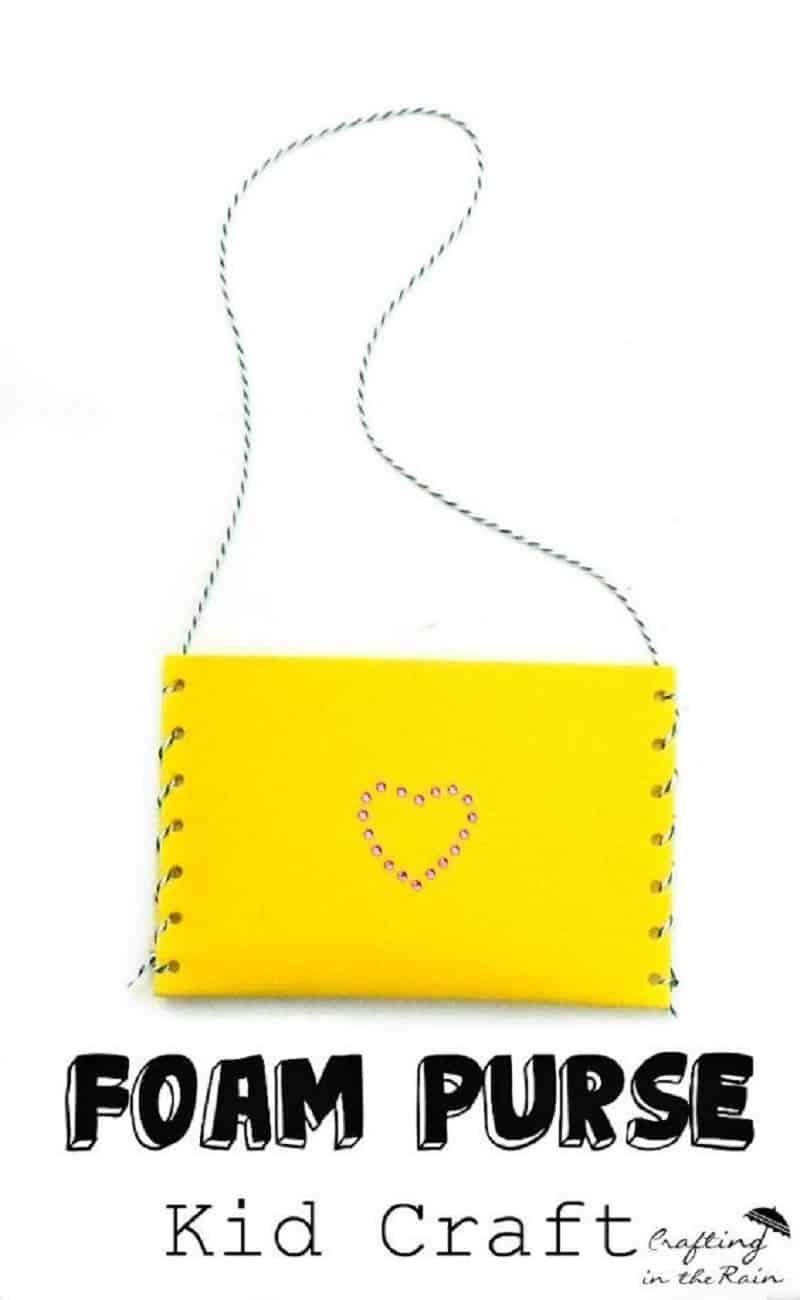 Foam paper purse
