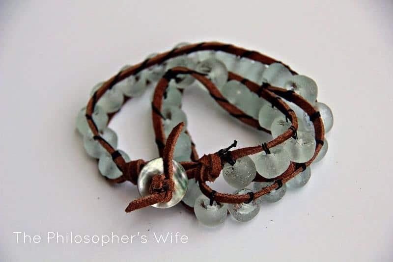 Glass bead wrap bracelets