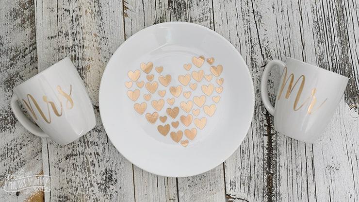 Gold foil dinnerware