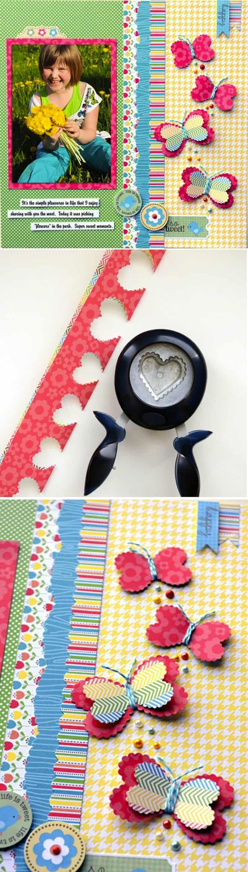Heart butterfly cutouts