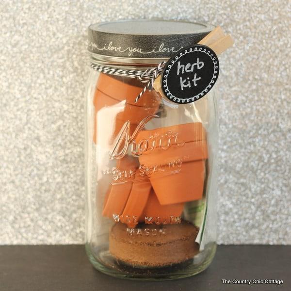 Herb kit in a jar