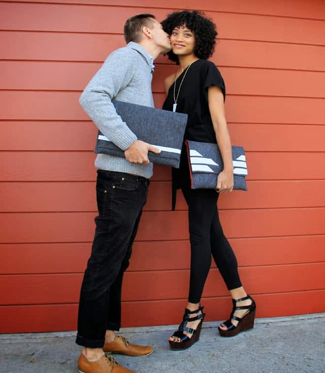 His & hers laptop sleeves