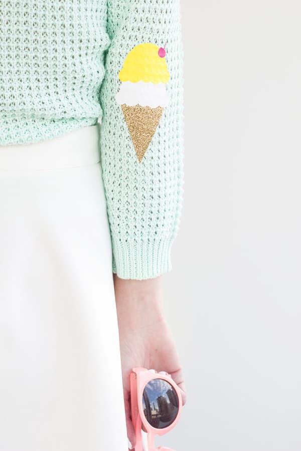 Ice cream elbow patches