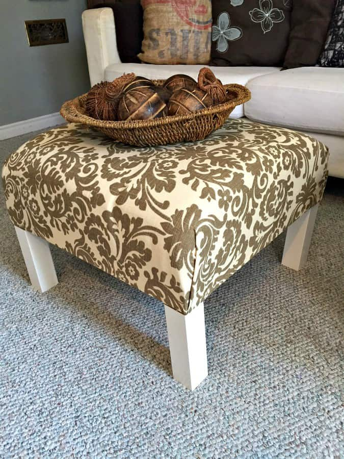 Ikea table turned ottoman