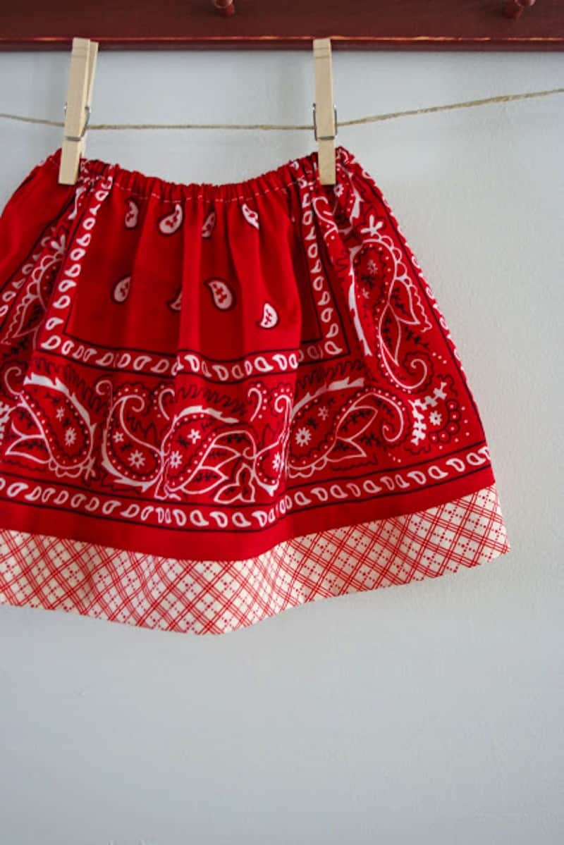 Kids' bandana skirt