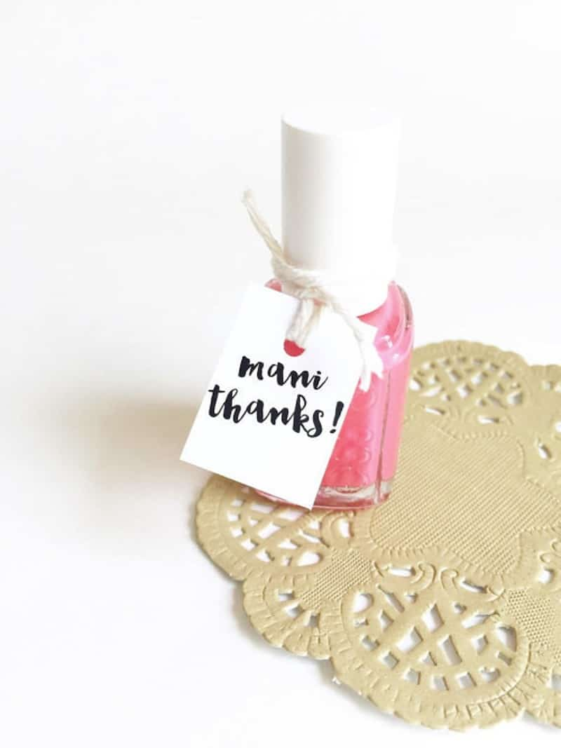 """Mani thanks"" polishes in the wedding colour scheme"