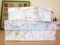 Map covered keepsake boxes 200x150 Repurposed Worlds: 15 Cool DIY Ideas Using Old Maps