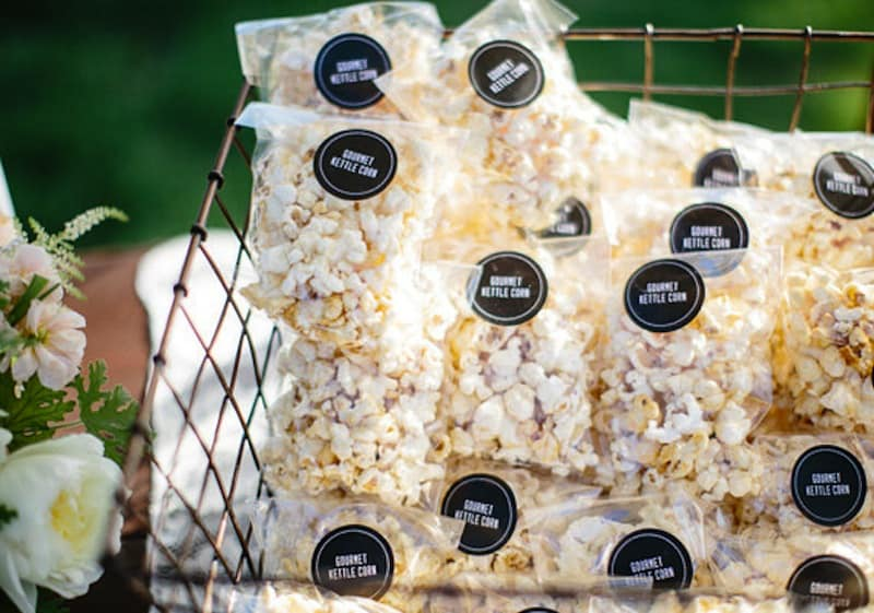 Miniature custom popcorn bags