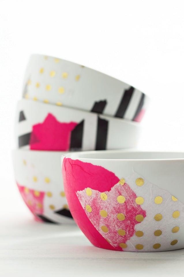 Mod podge bowls