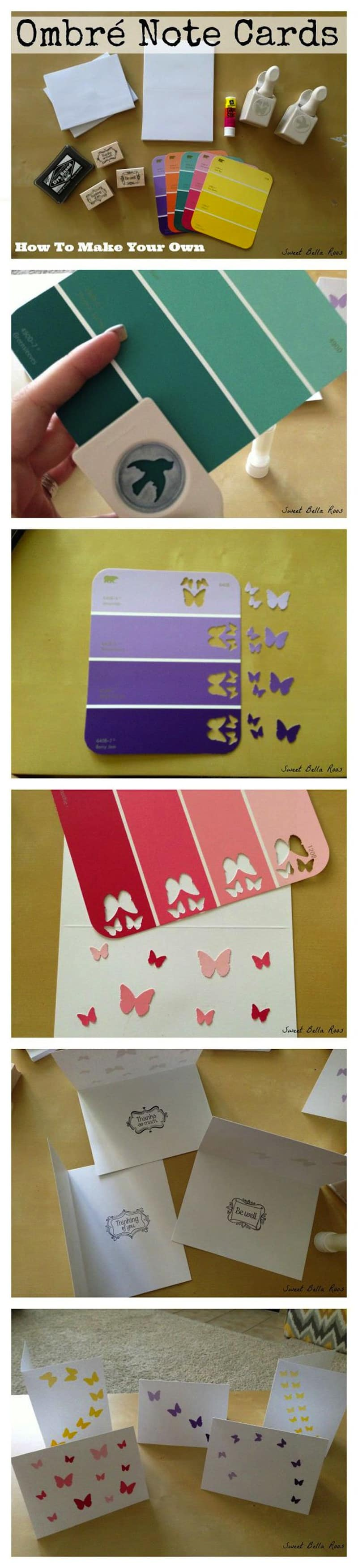 Ombre paint chip punchers