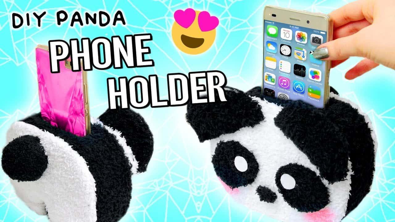 Panda phone holder