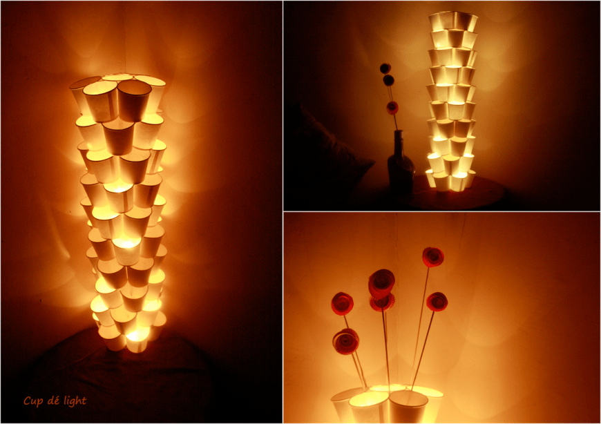 Paper cup LED lamp