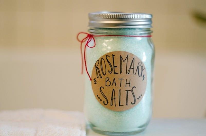 Plain rosemary bath salts