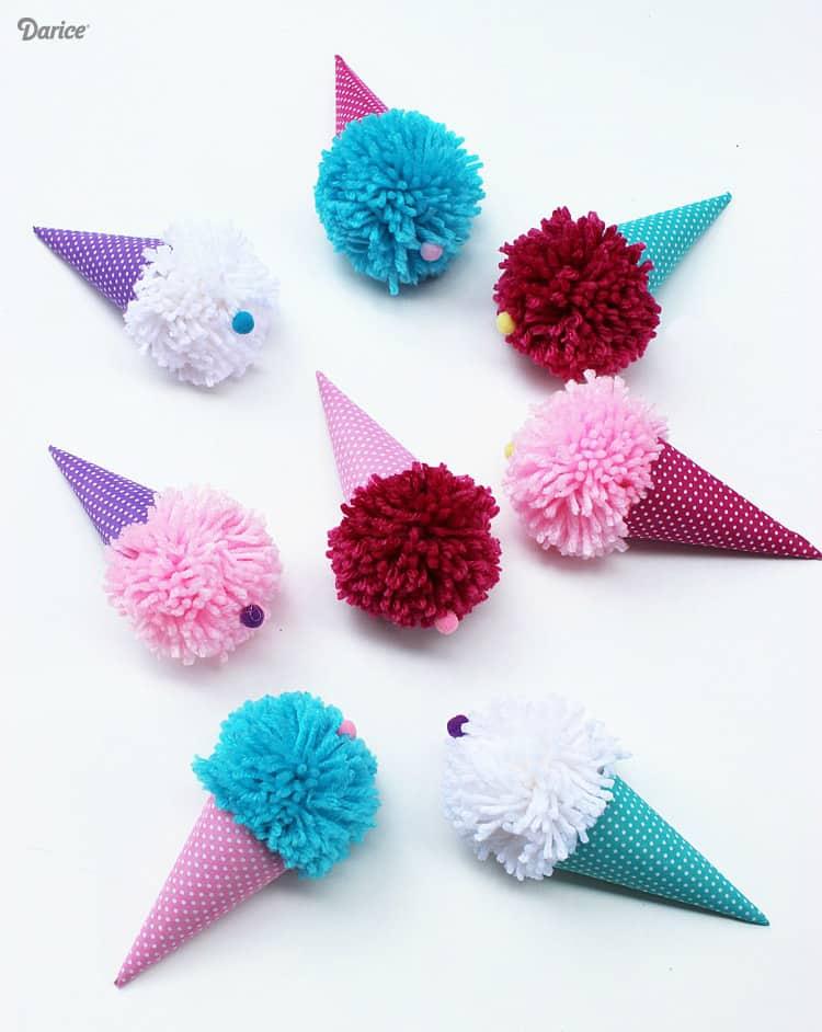 Pom-pom ice cream cones
